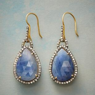 DIAMANTÉ BLUE SAPPHIRE EARRINGS