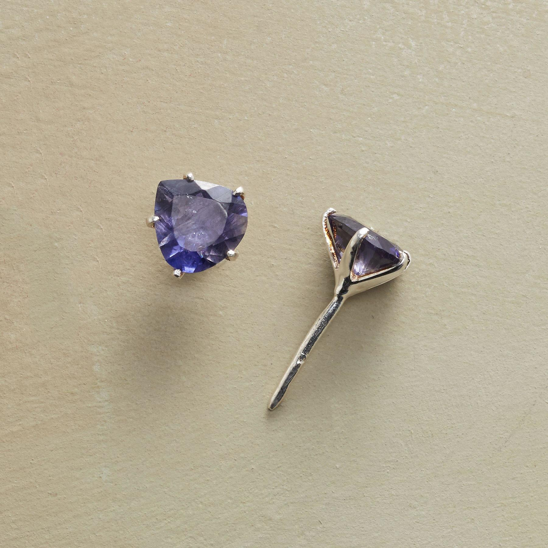 TRILLION IOLITE EARRINGS: View 1
