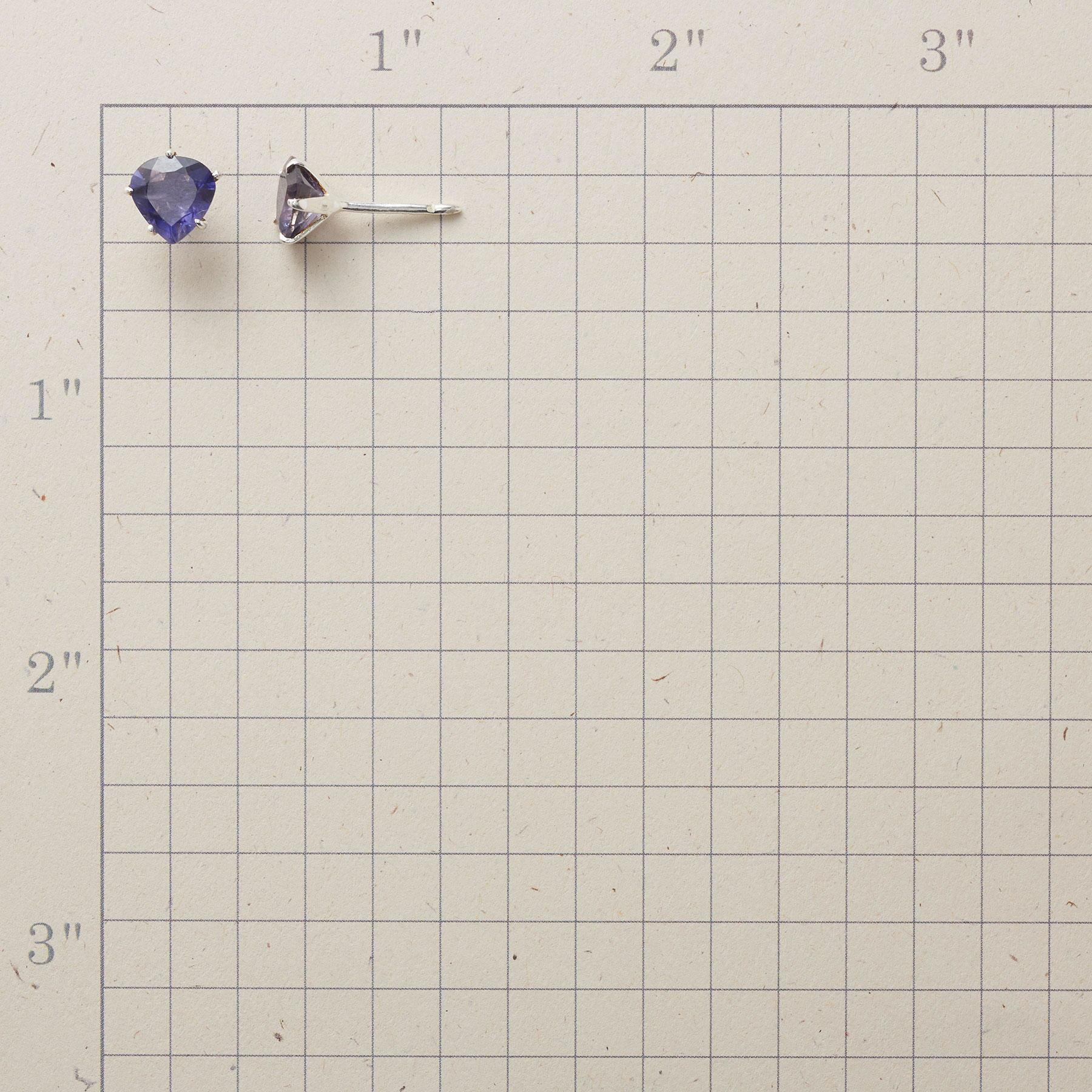 TRILLION IOLITE EARRINGS: View 2