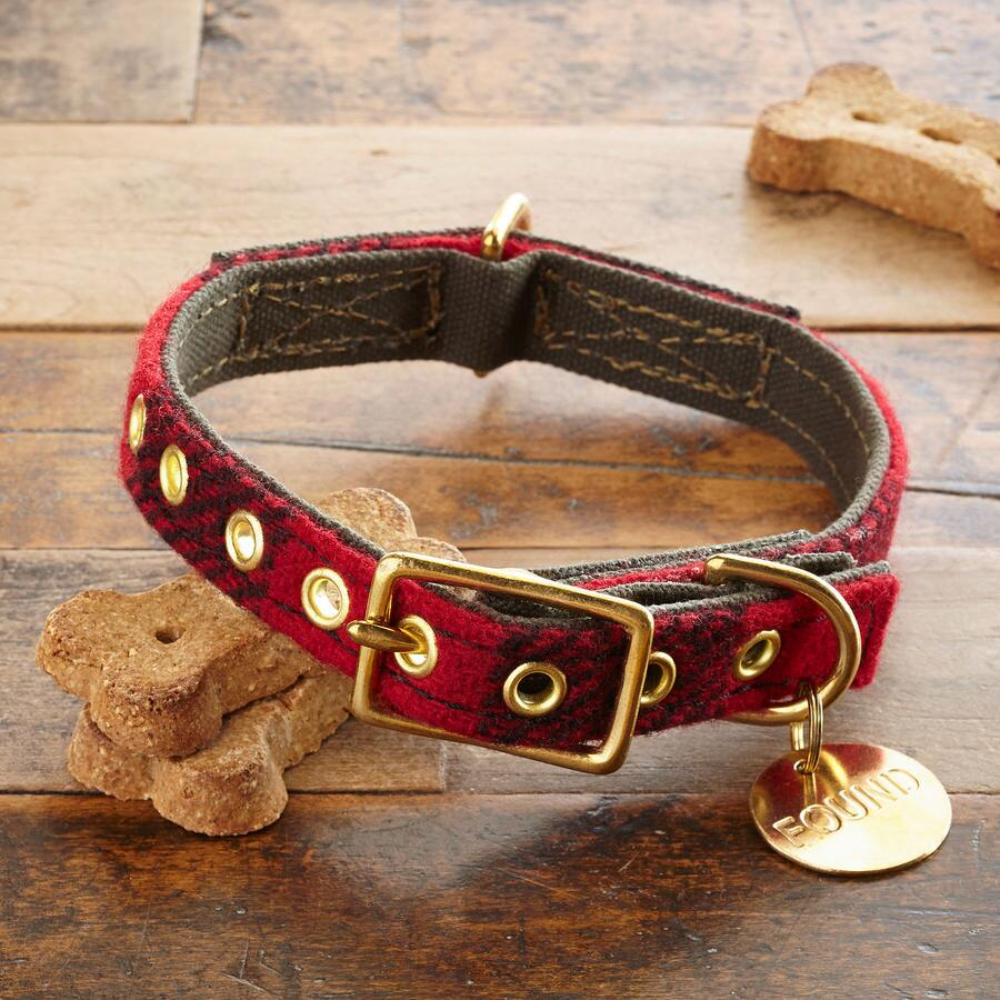 HEARTY DOG PLAID COLLAR
