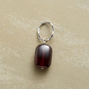 RED GARNET SOLO GEMSTONE CHARM