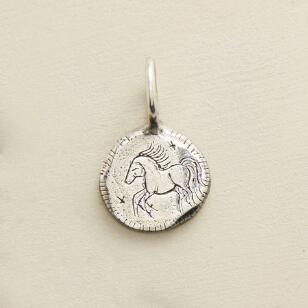STERLING SILVER COURAGE CHARM