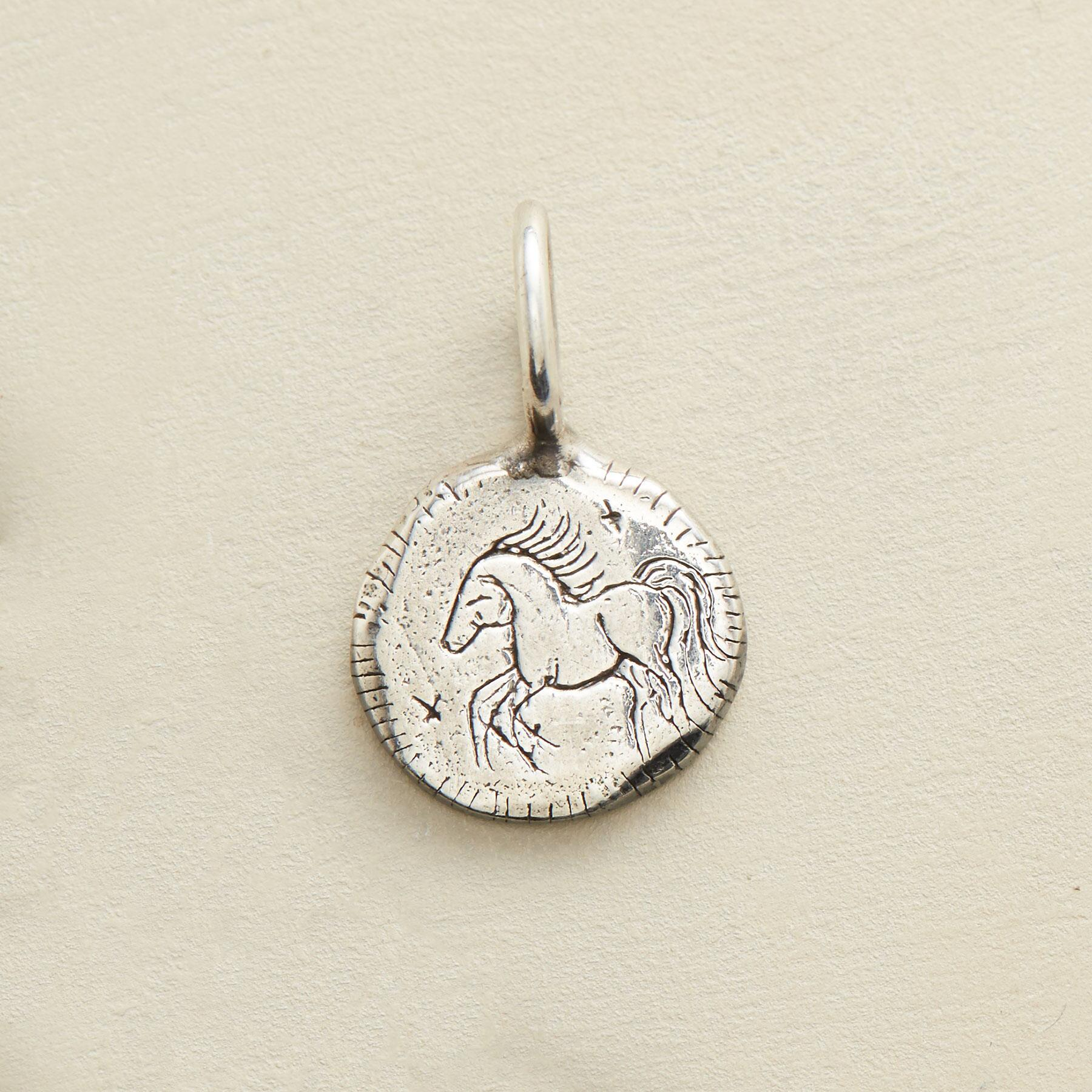 STERLING SILVER COURAGE CHARM: View 1