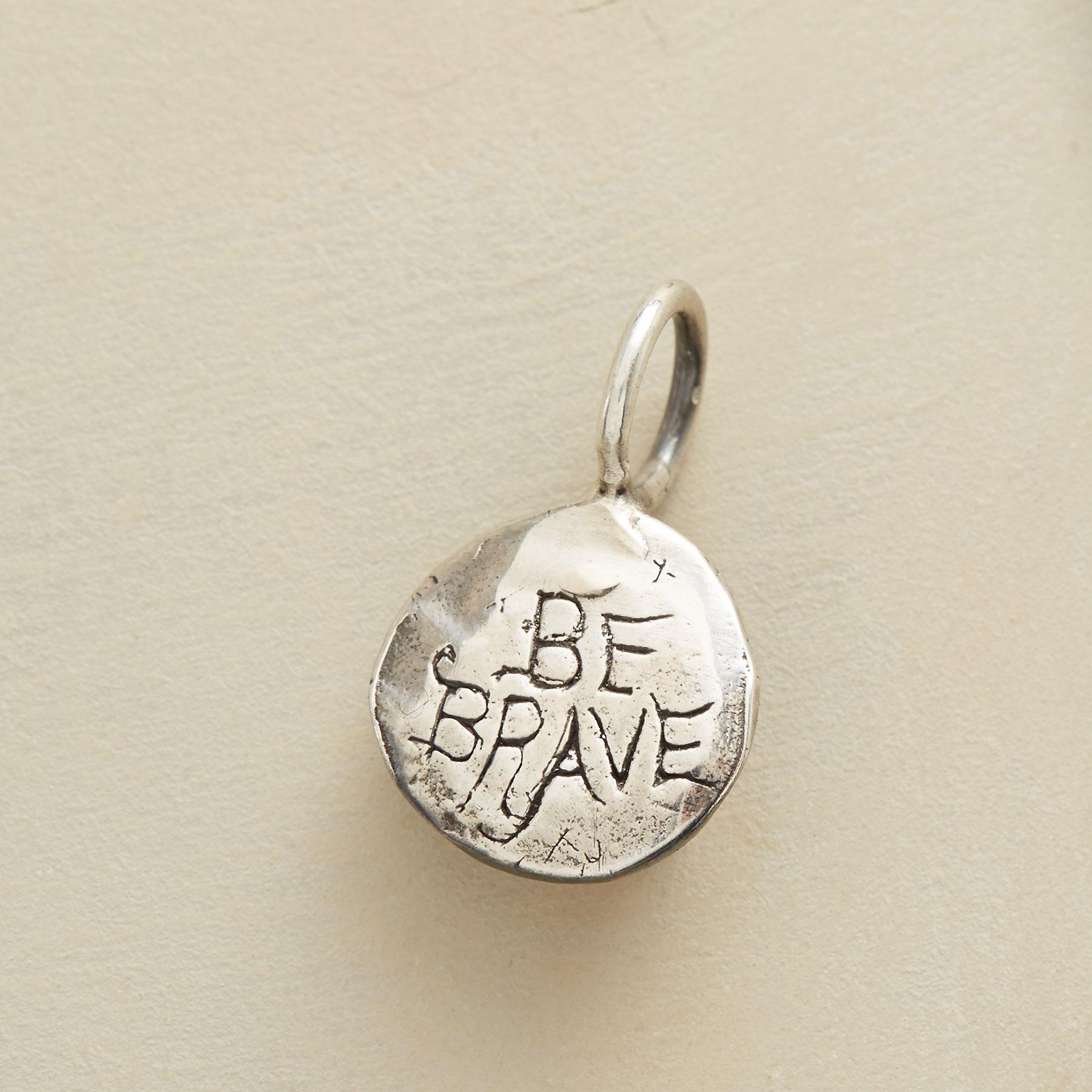 STERLING SILVER COURAGE CHARM: View 2