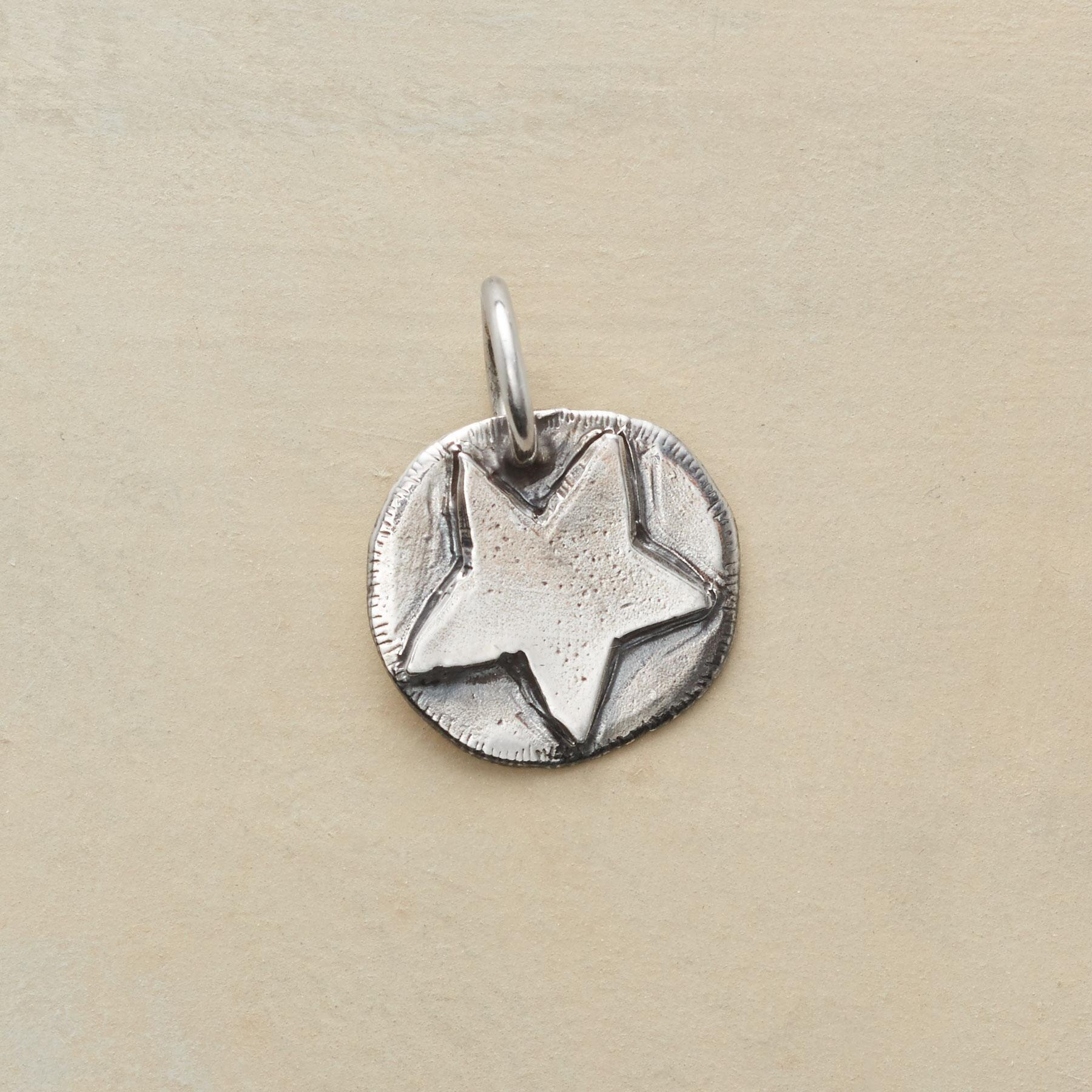 STERLING SILVER STAR CHARM: View 1