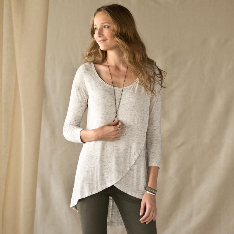 CROSSOVER TUNIC TEE