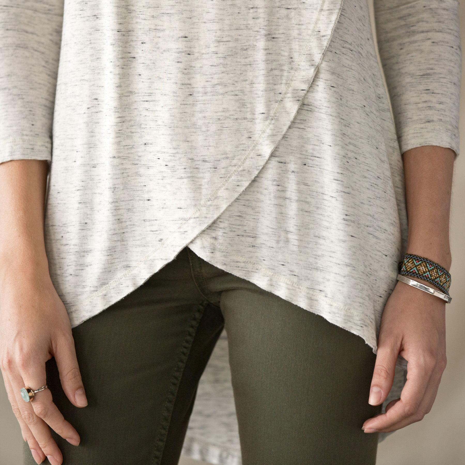 CROSSOVER TUNIC TEE: View 4