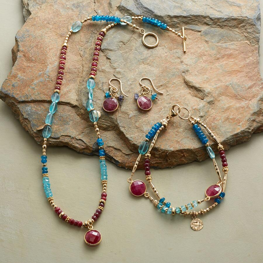 RUBY BLUES COLLECTION, SET OF 3