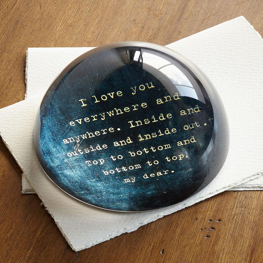 LOVE POEM PAPERWEIGHT