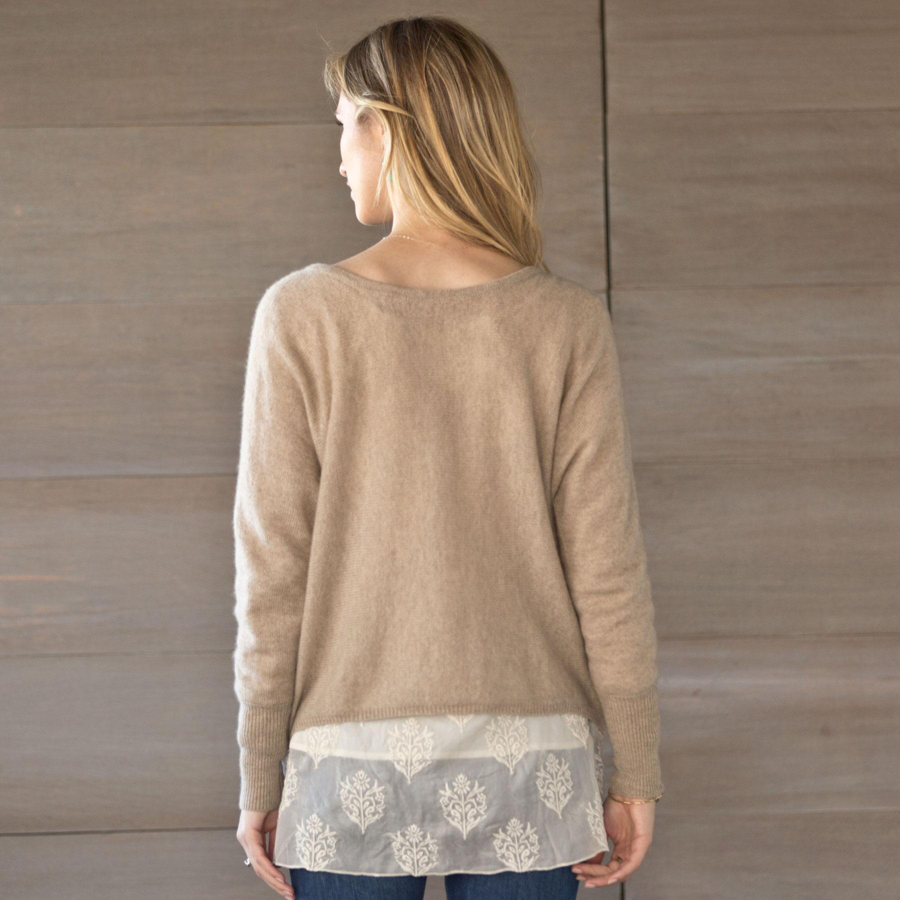 SUBTLE LUXURY REVERSIBLE SWEATER: View 2