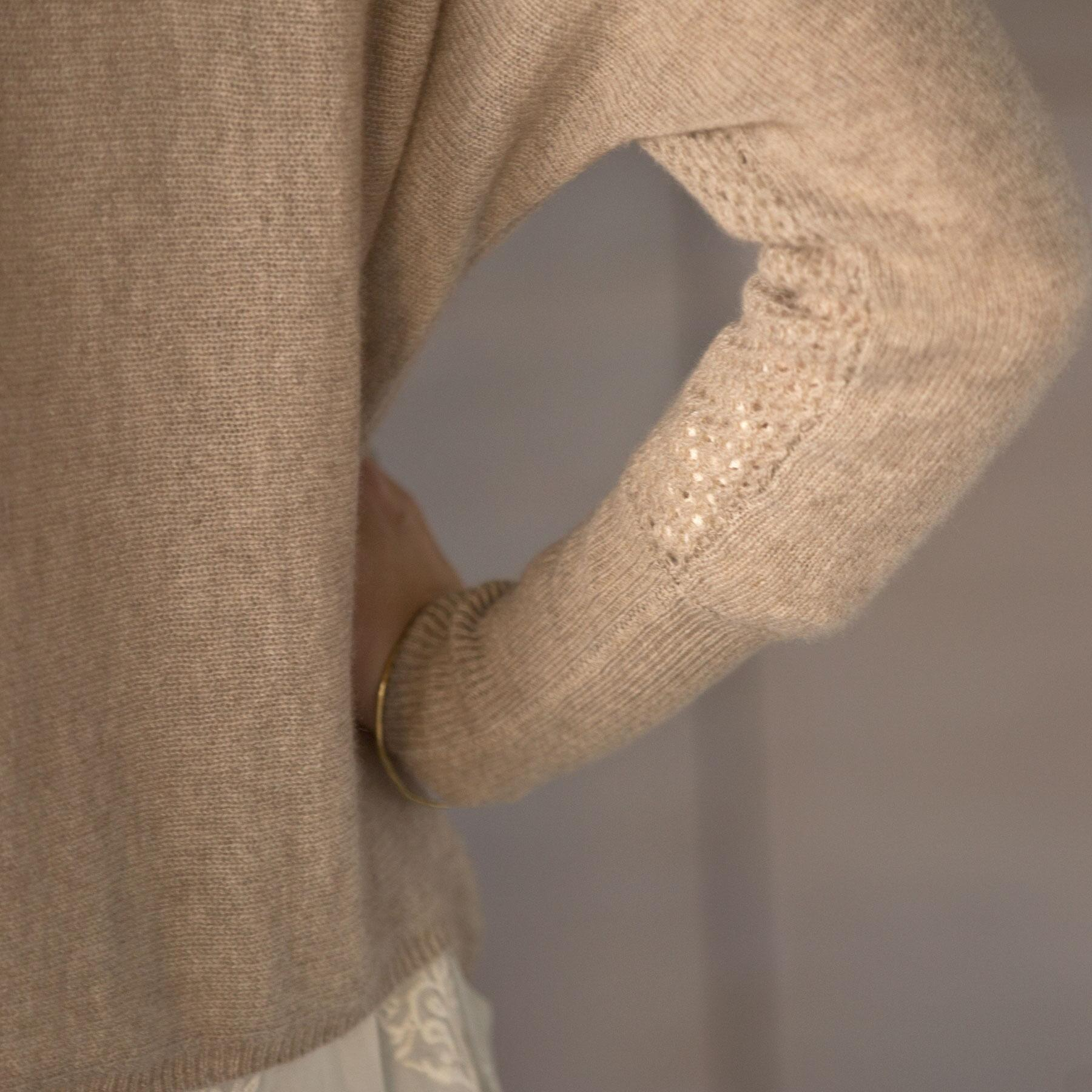 SUBTLE LUXURY REVERSIBLE SWEATER: View 3