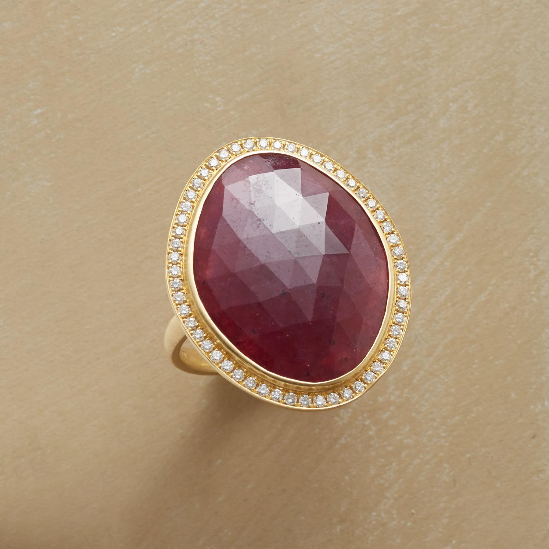 GARLAND RUBY RING: View 1