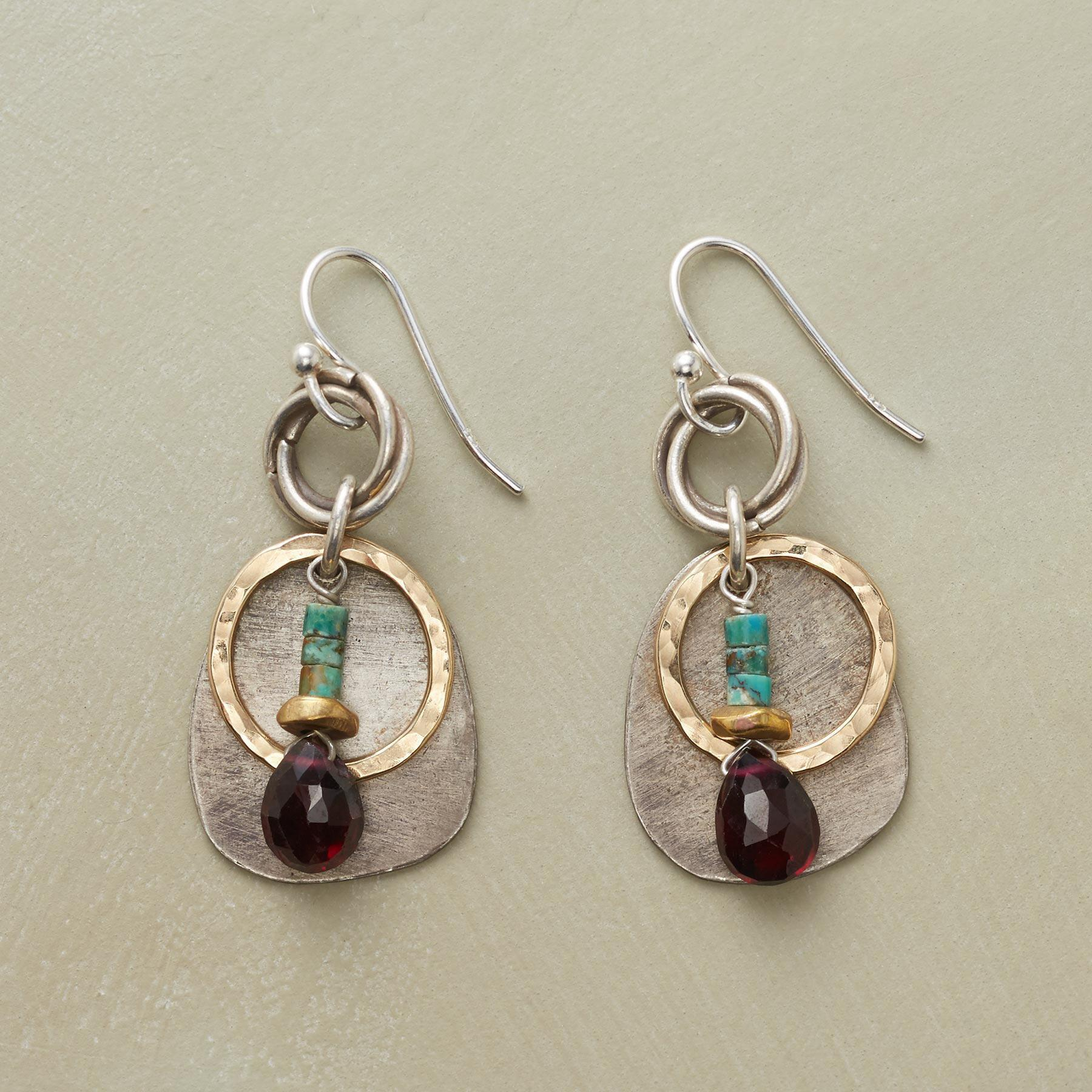 CIRCLES AND STONES EARRINGS: View 1