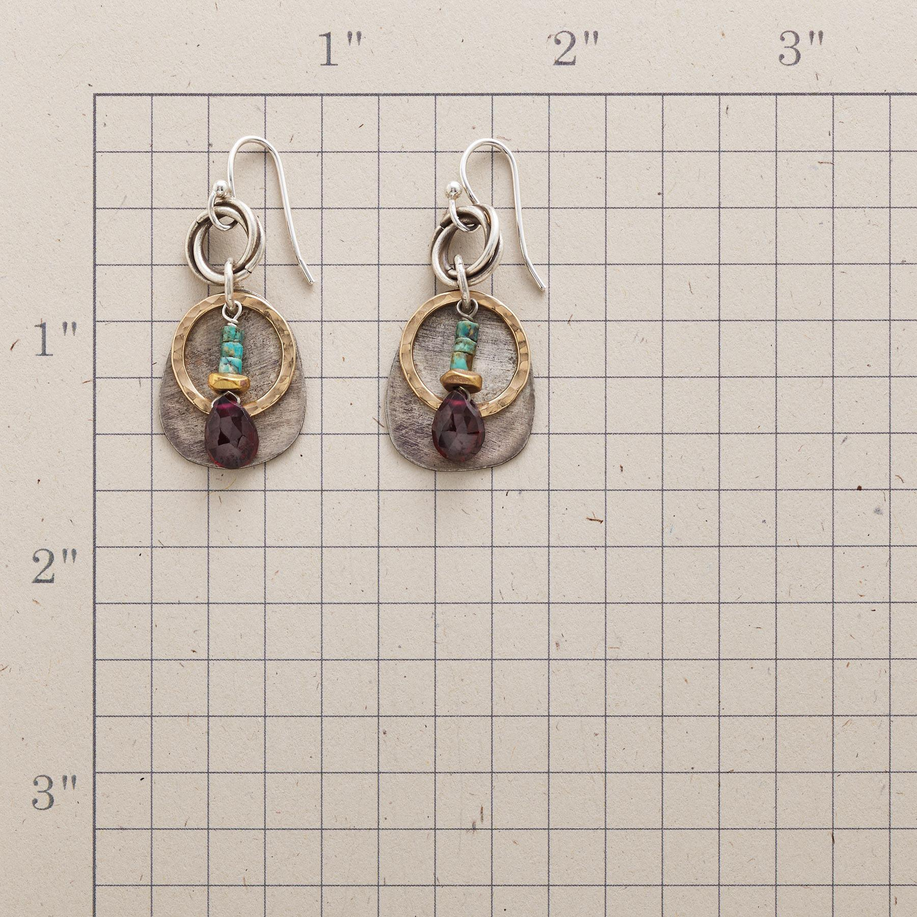 CIRCLES AND STONES EARRINGS: View 2