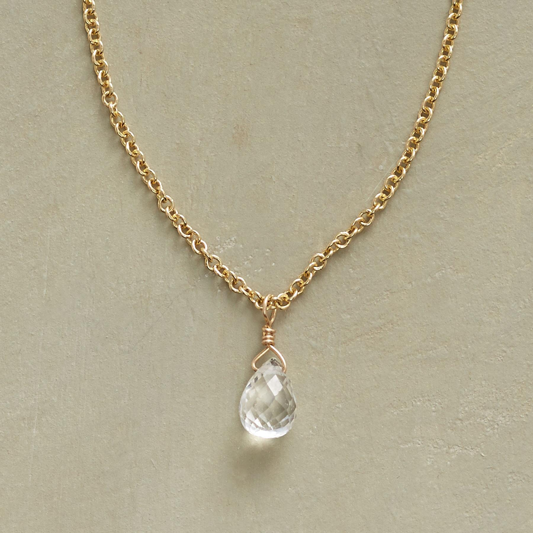 WONDROUS WHITE SAPPHIRE NECKLACE: View 1