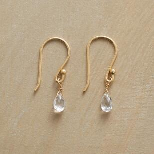 WONDROUS WHITE SAPPHIRE EARRINGS