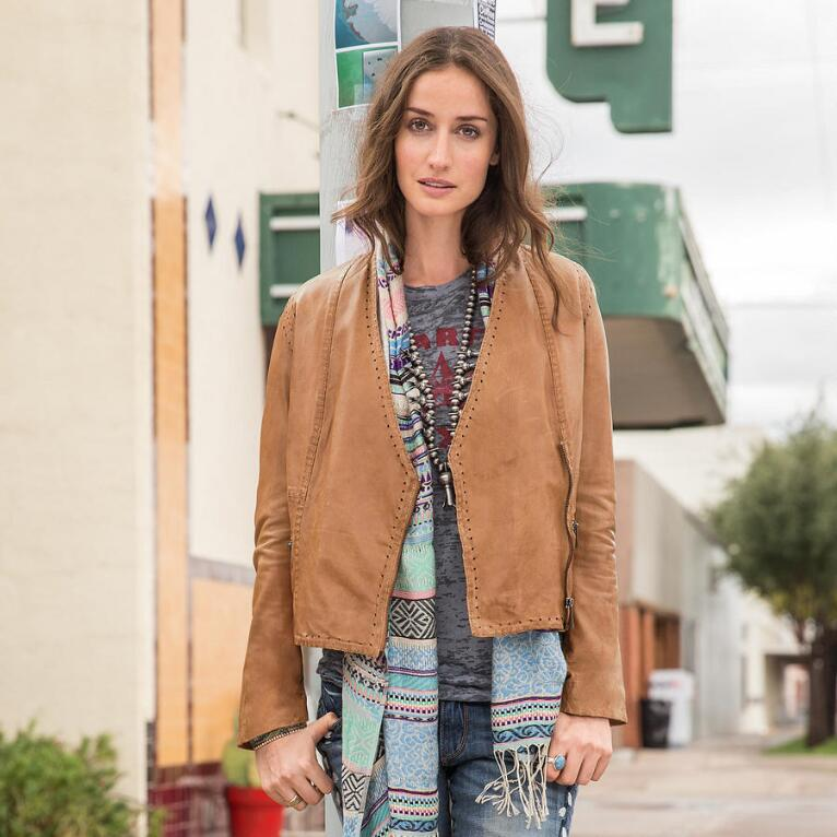 PREAMBLE LEATHER JACKET