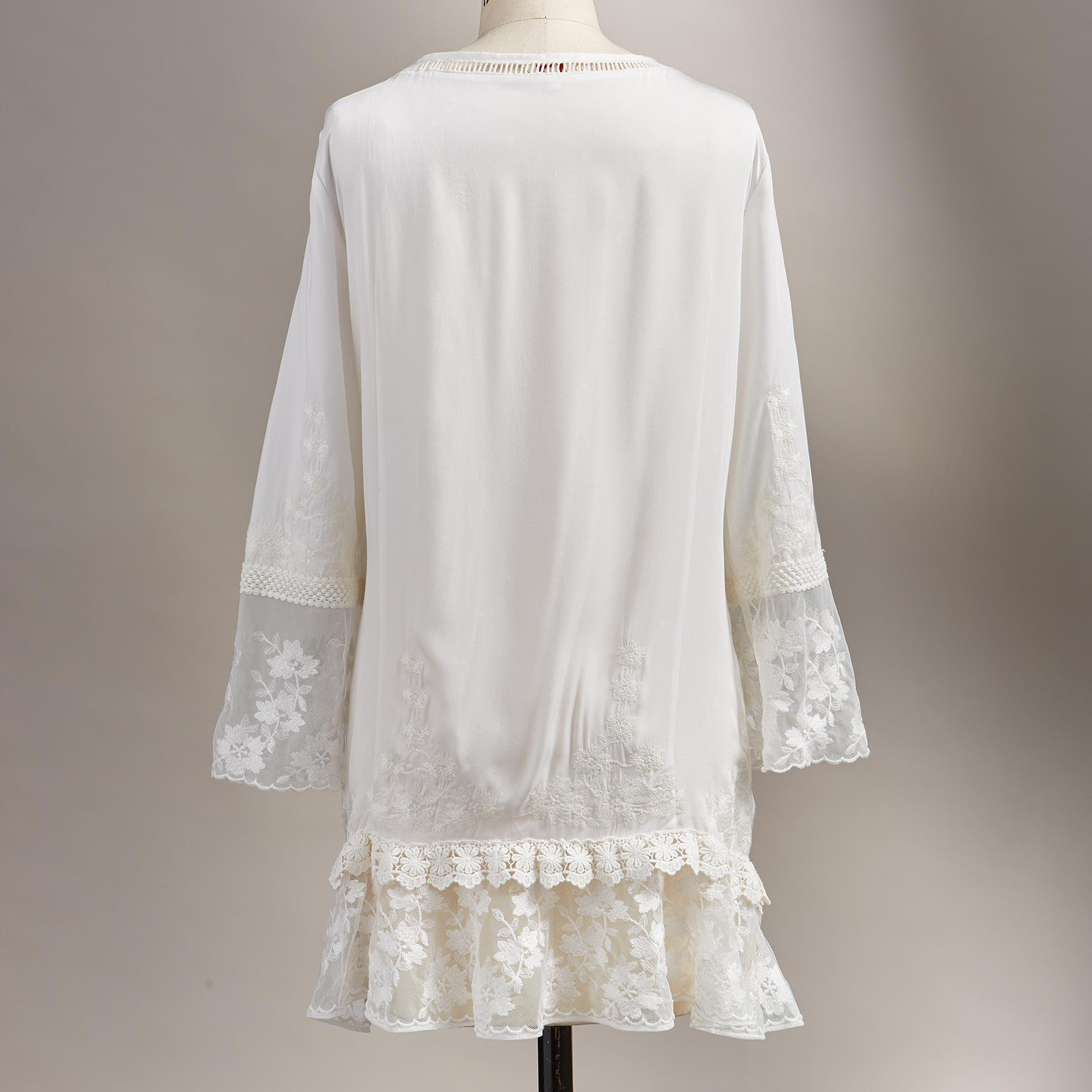 BETROTHED EMBROIDERED TUNIC - PETITES: View 2