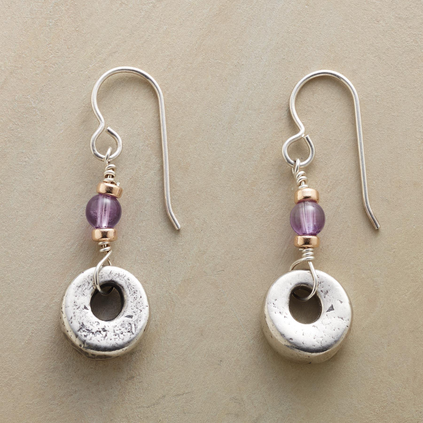 TOUCH OF VIOLET EARRINGS: View 1