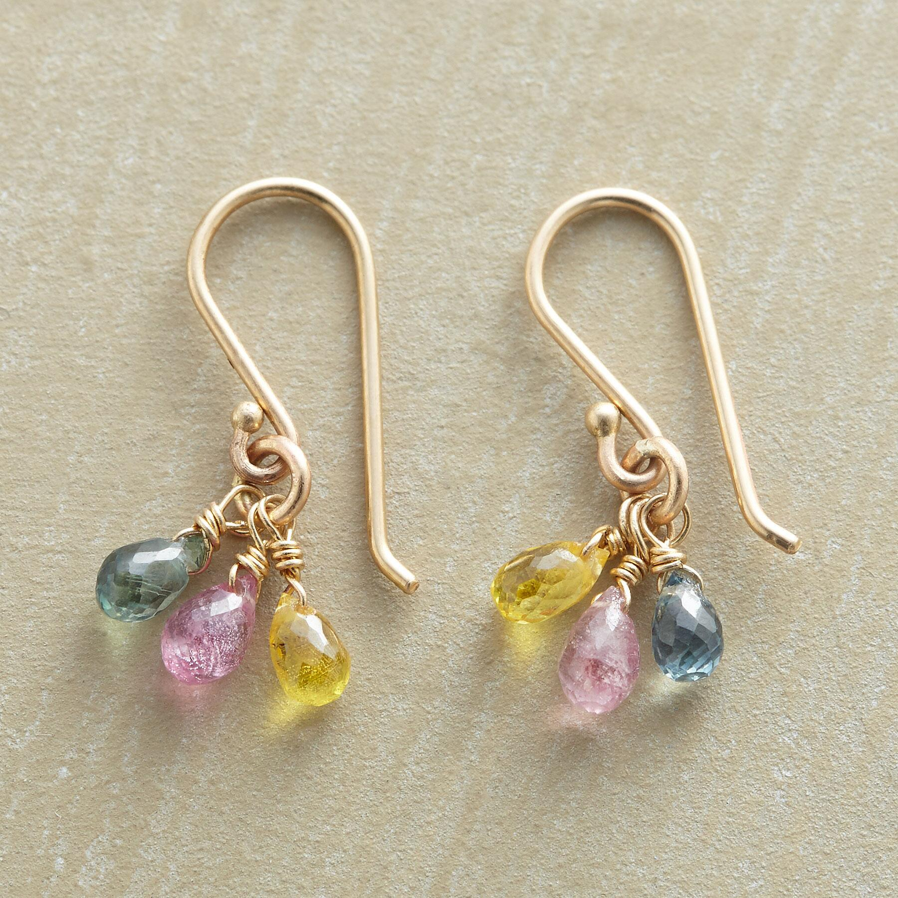 SAPPHIRE RAINDROPS EARRINGS: View 1