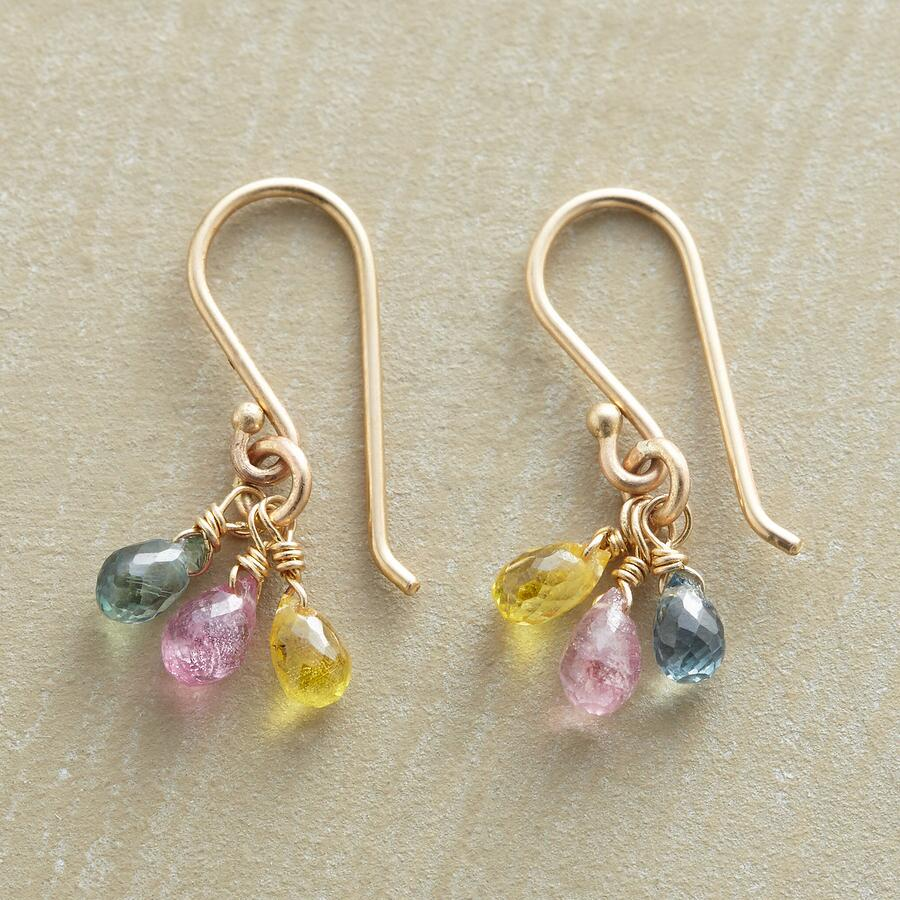 SAPPHIRE RAINDROPS EARRINGS