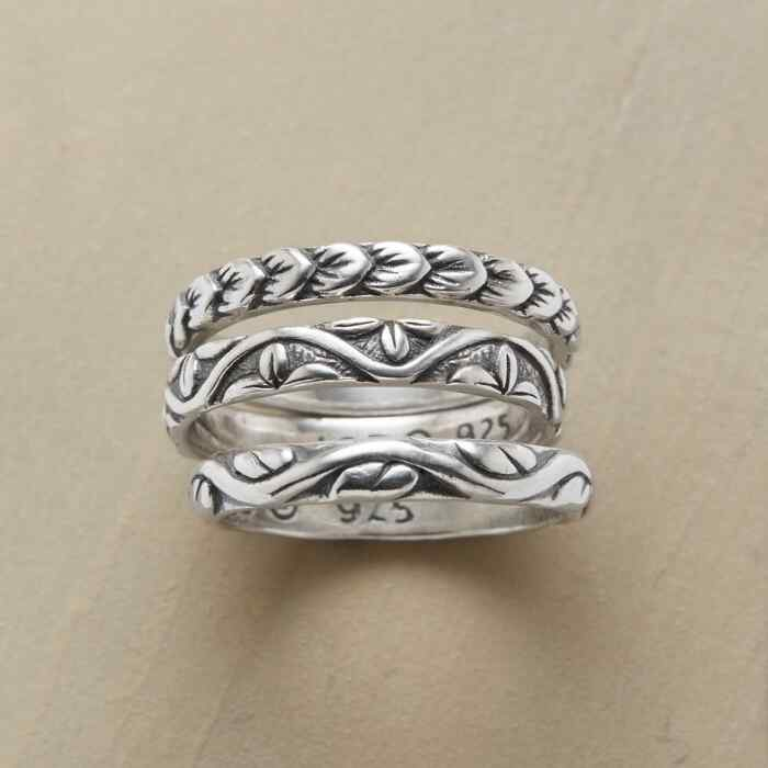 VERDANT VINES RING TRIO