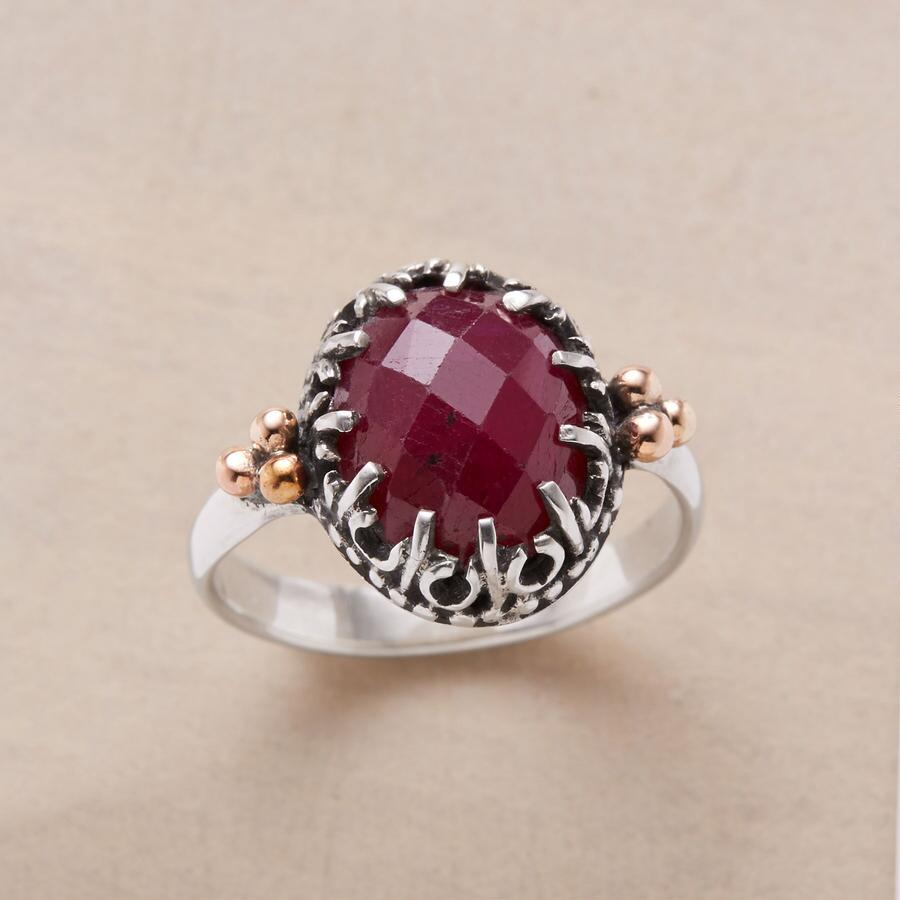 FRETWORK RUBY RING