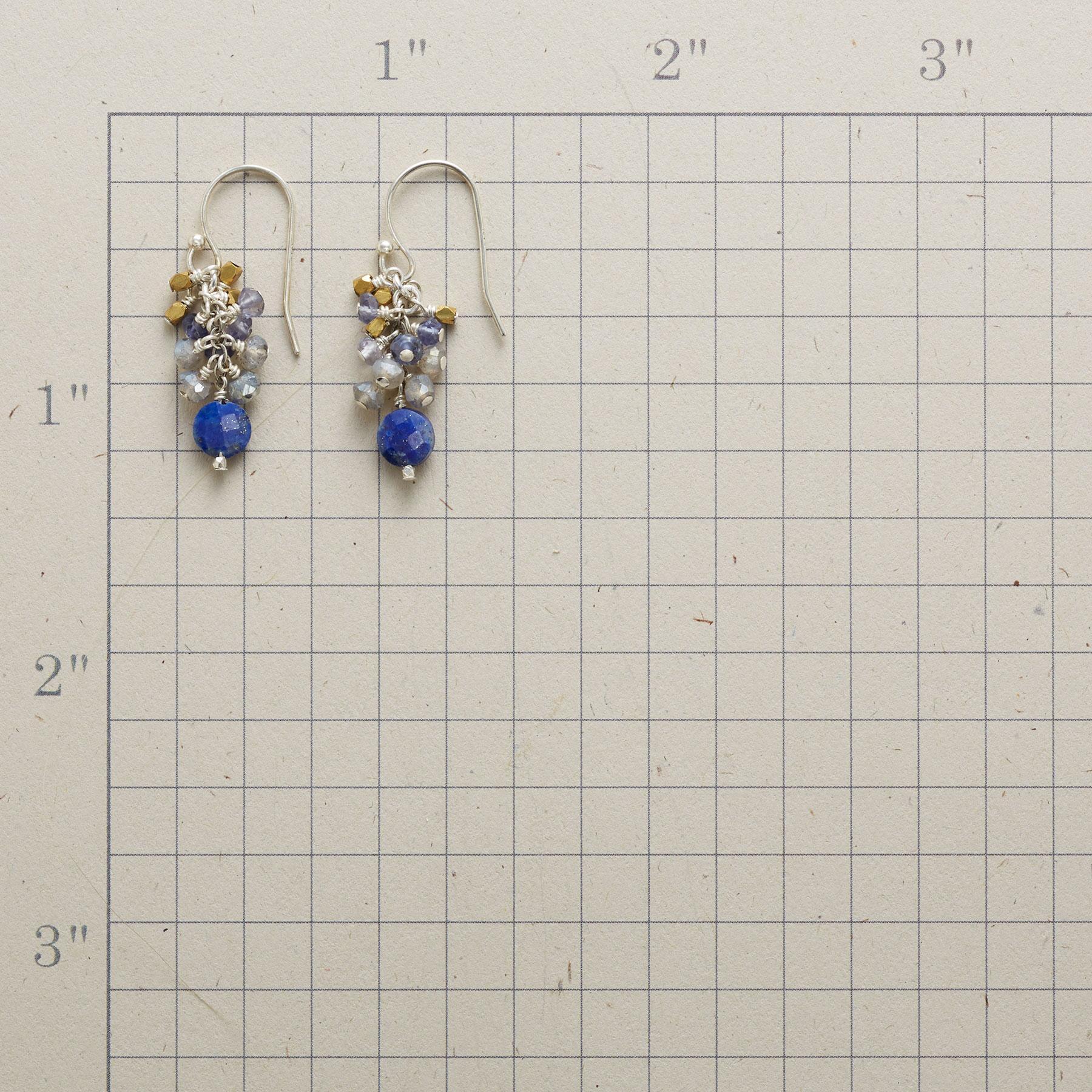 BLUE TINSEL EARRINGS: View 2