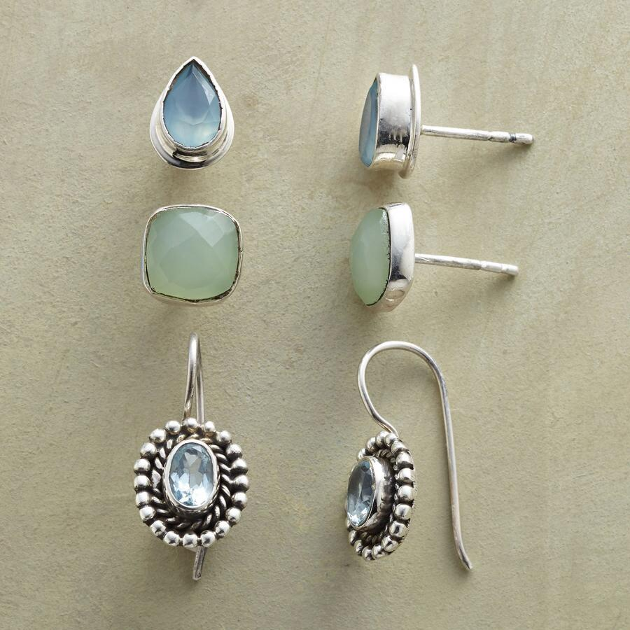 AQUA BLUE EARRING TRIO