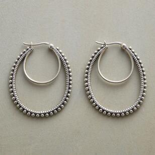 HOOPS ON THE DOUBLE EARRINGS