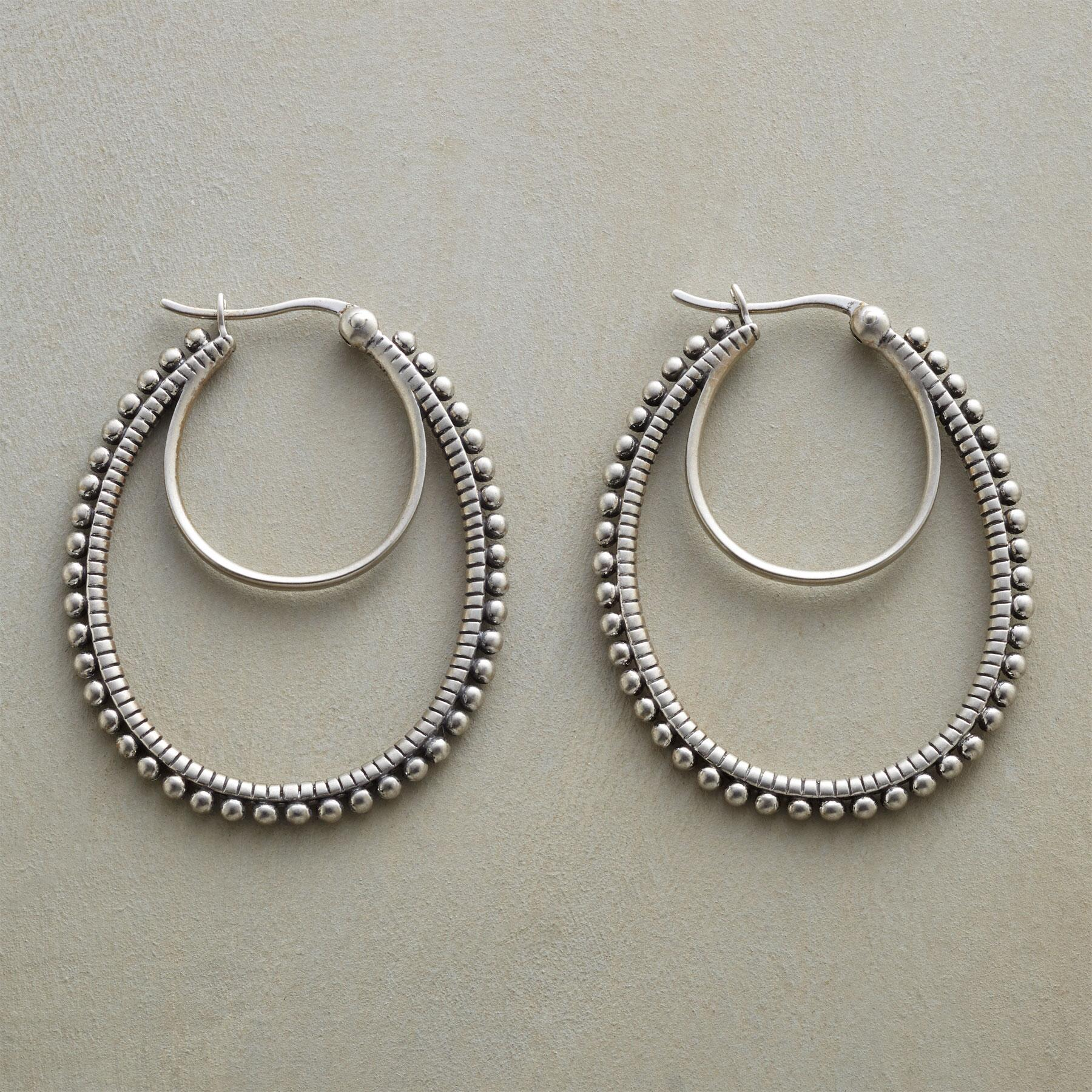 HOOPS ON THE DOUBLE EARRINGS: View 1
