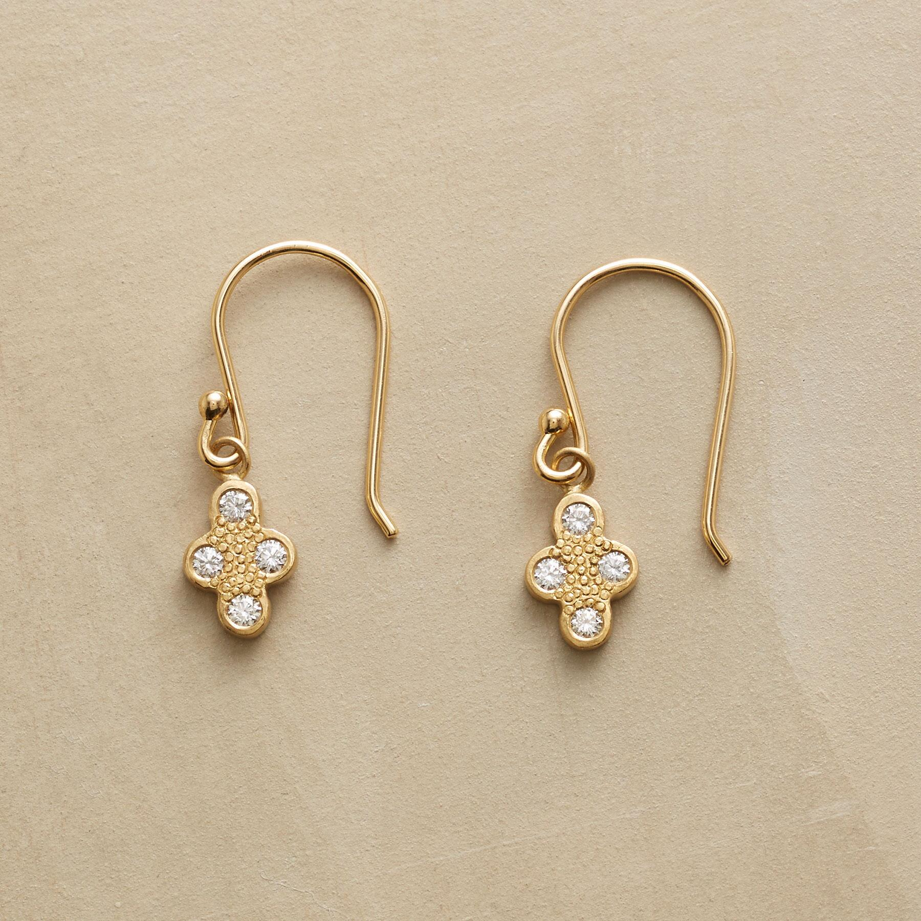 DIAMOND QUARTET EARRINGS: View 1
