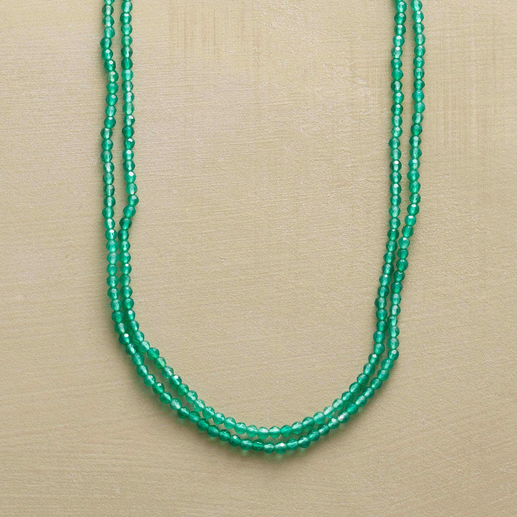 GREEN ONYX NECKLACE: View 1