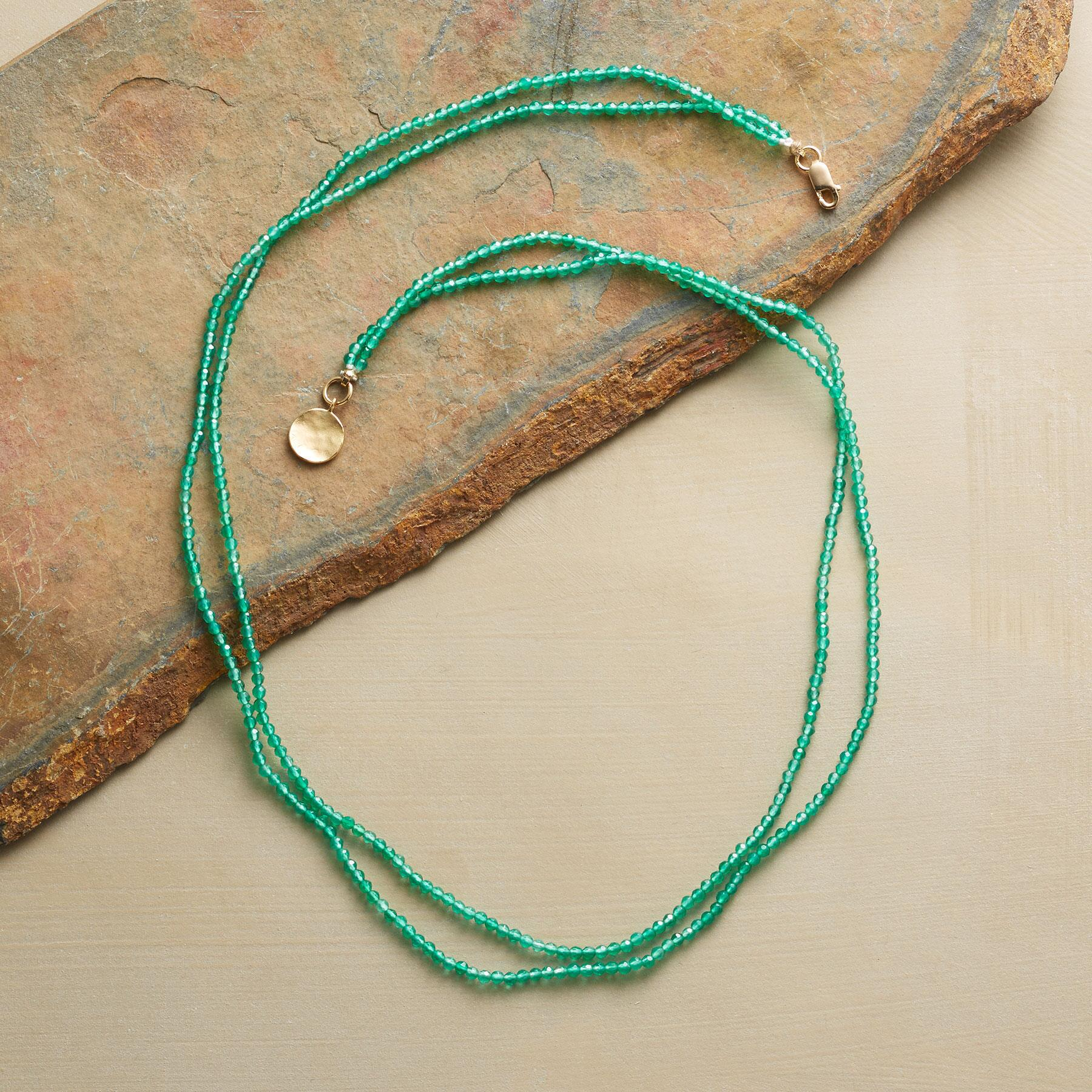 GREEN ONYX NECKLACE: View 2