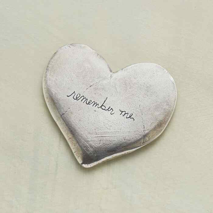 PEWTER REMEMBER ME HEART
