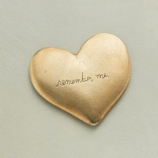 18KT GOLD PLATE REMEMBER ME HEART
