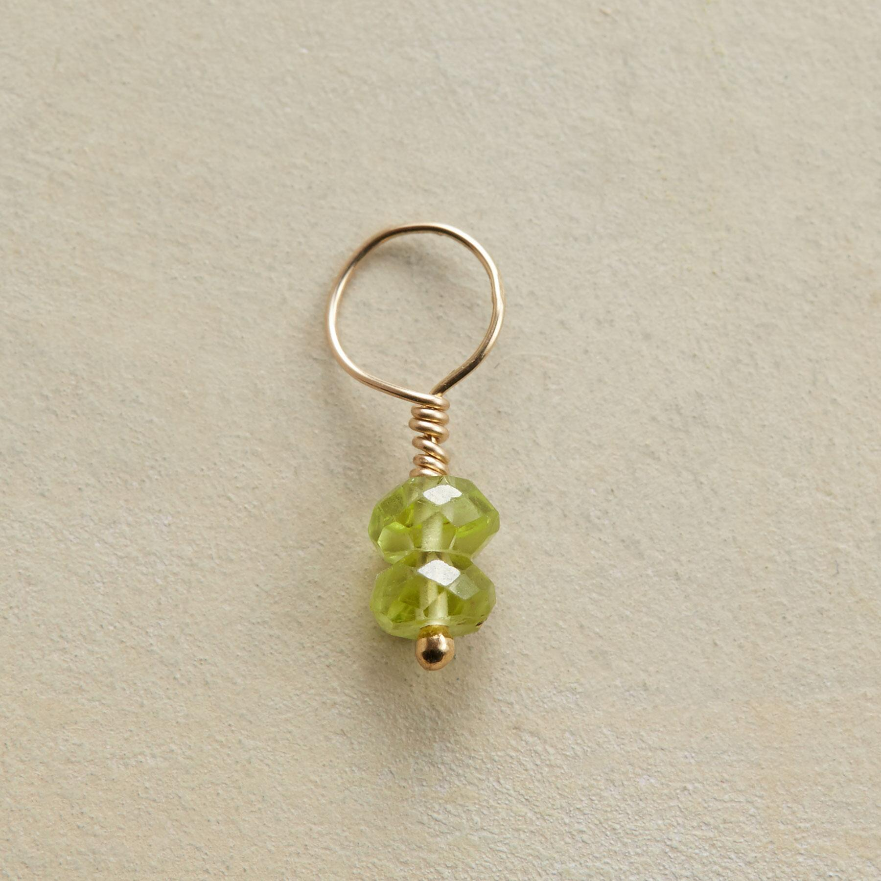 GOLD GEMSTONE BIRTHSTONE CHARM: View 1