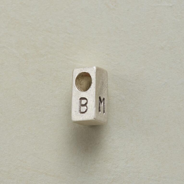 SILVER PERSONALIZED BLOCK CHARM