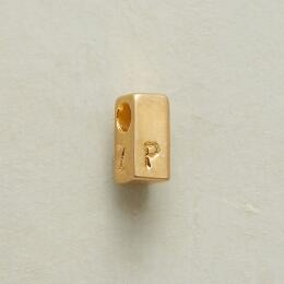 GOLDEN PERSONALIZED BLOCK CHARM