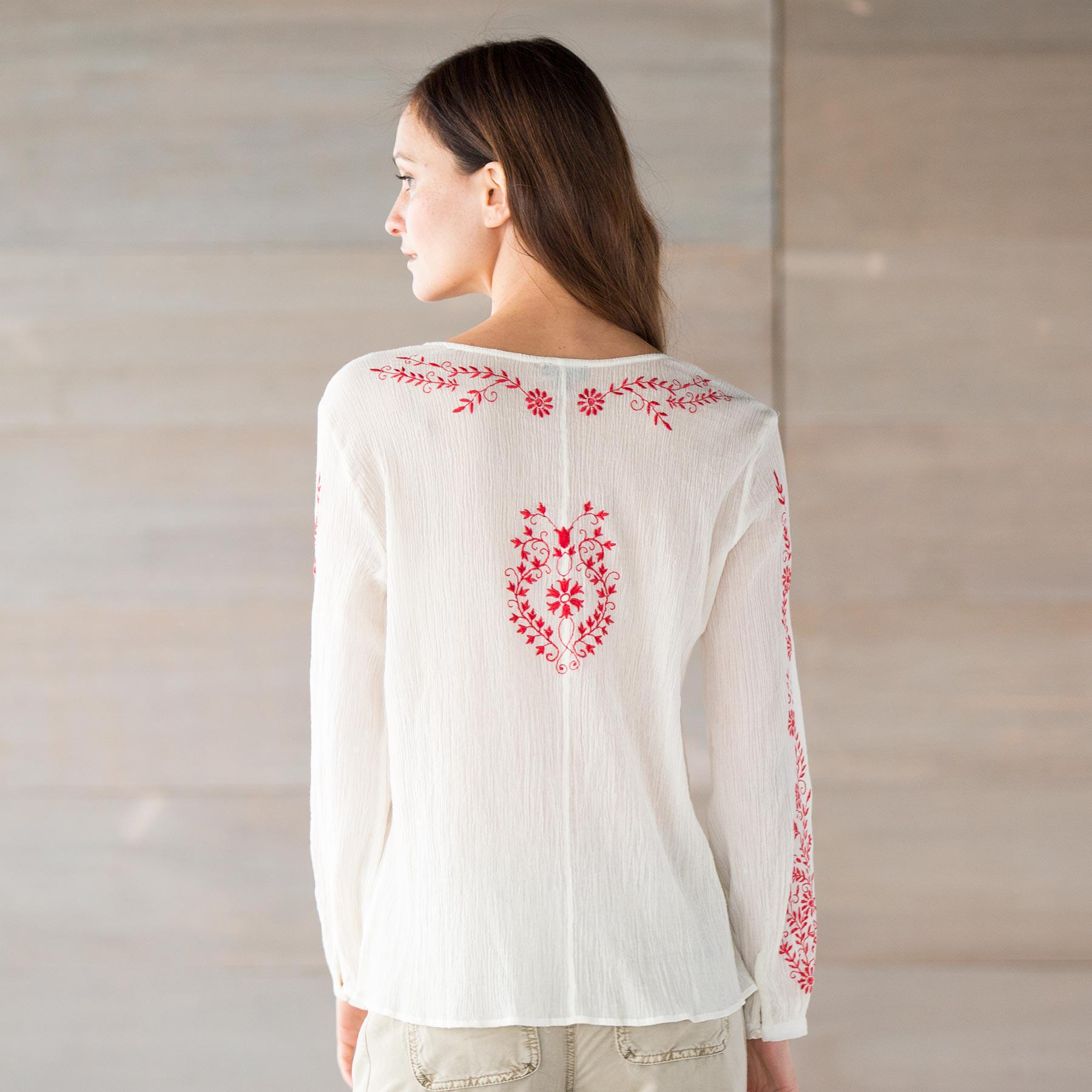 TOLANI ASHLEY EMBROIDERED TOP: View 2