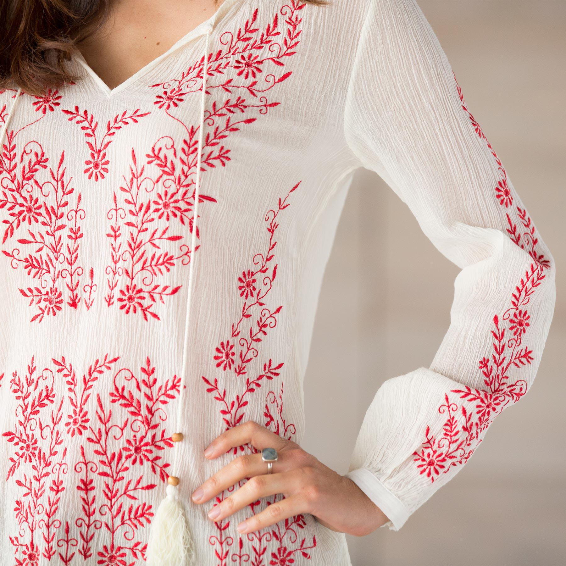 TOLANI ASHLEY EMBROIDERED TOP: View 3
