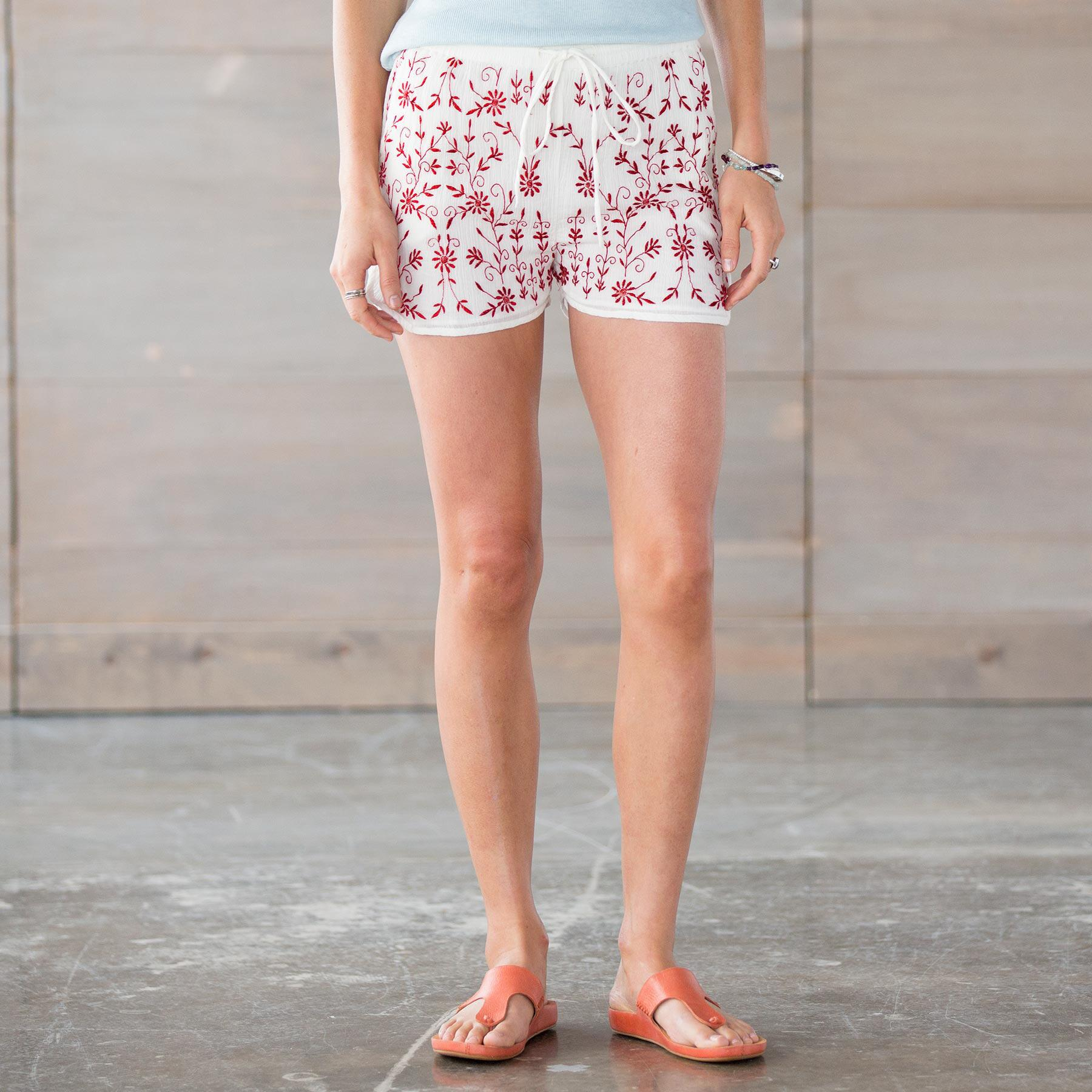 TOLANI KARLA EMBROIDERED SHORTS: View 1