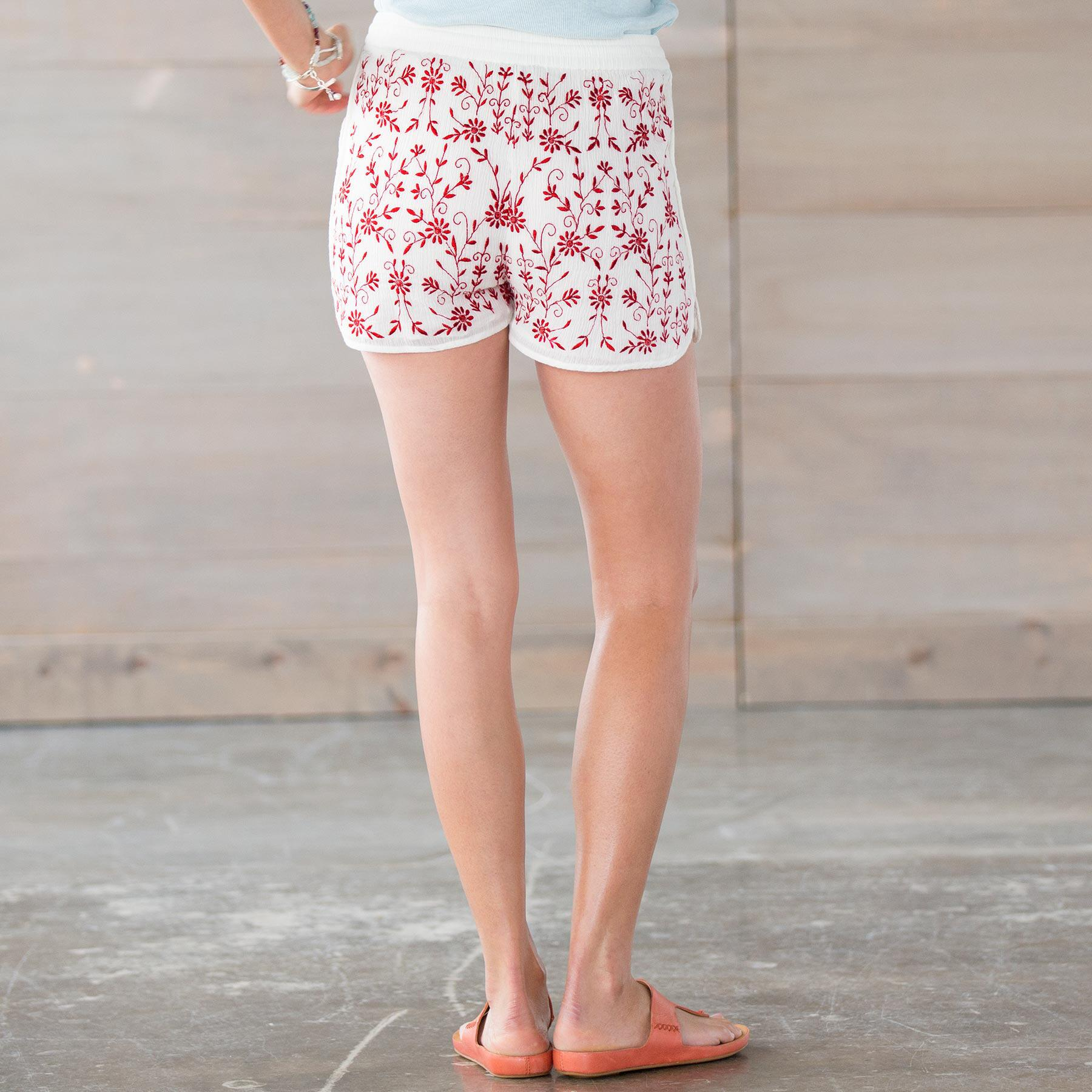 TOLANI KARLA EMBROIDERED SHORTS: View 2
