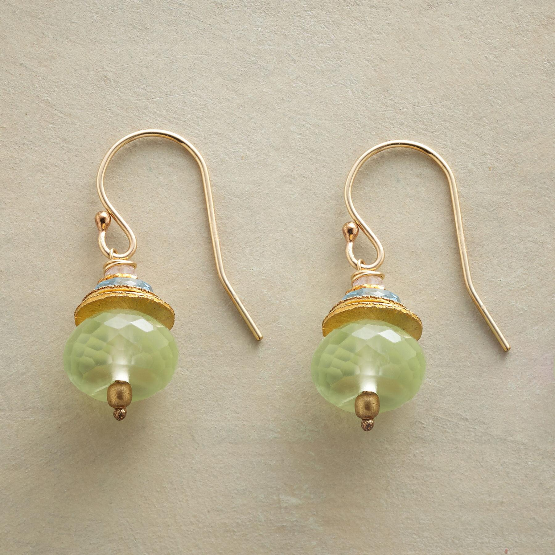 PREHNITE TUFFET EARRINGS: View 1