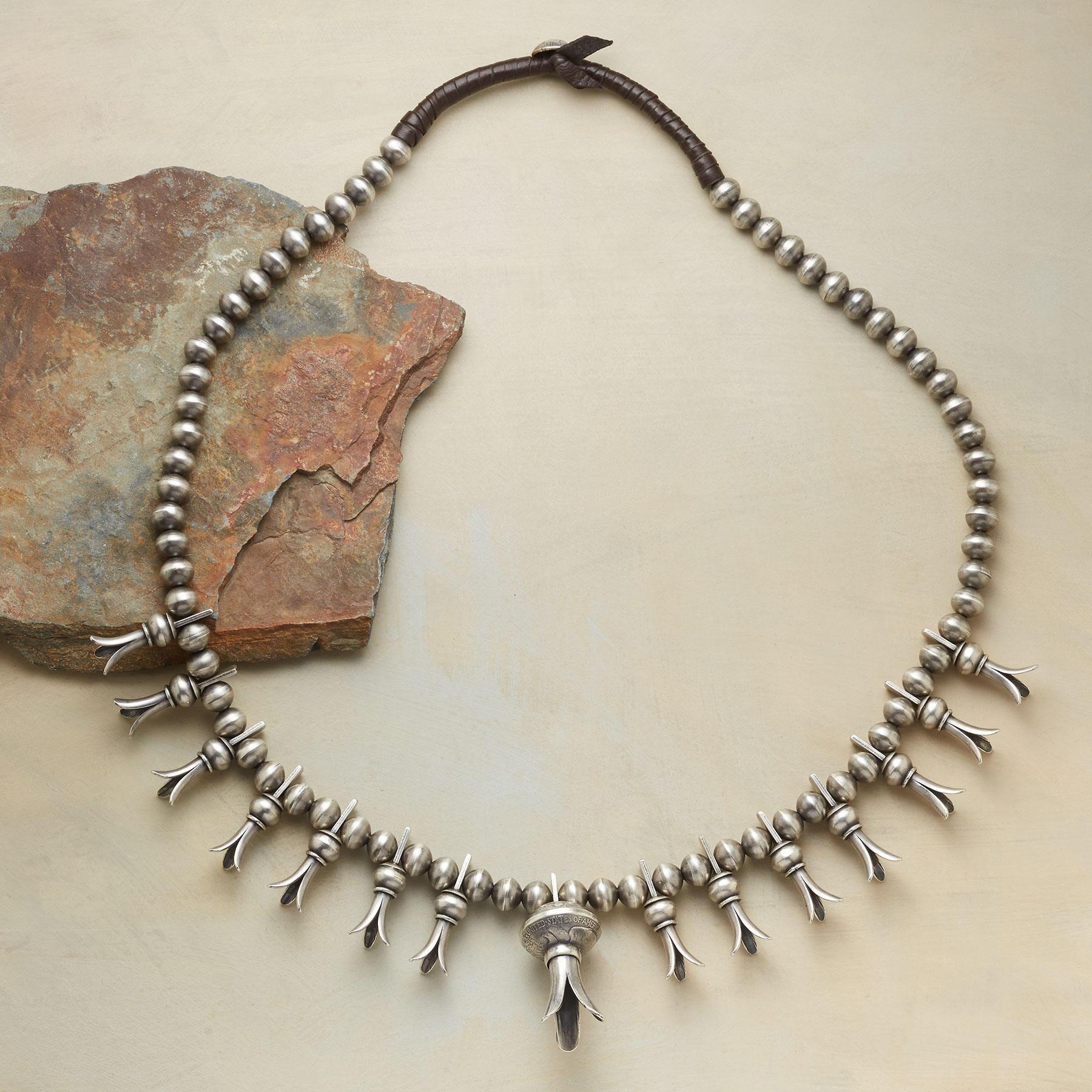 STERLING SQUASH BLOSSOM NECKLACE: View 2