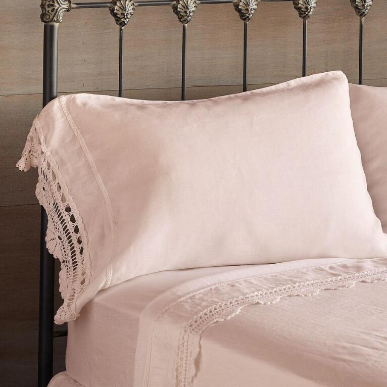 GOSSAMER LINEN CROCHET PILLOWCASE