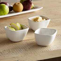 ALEX MARSHALL ORGANIC CONDIMENT BOWLS, SET OF 3