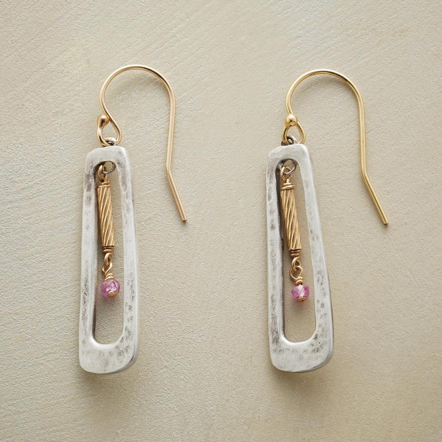 PINK PILLAR EARRINGS