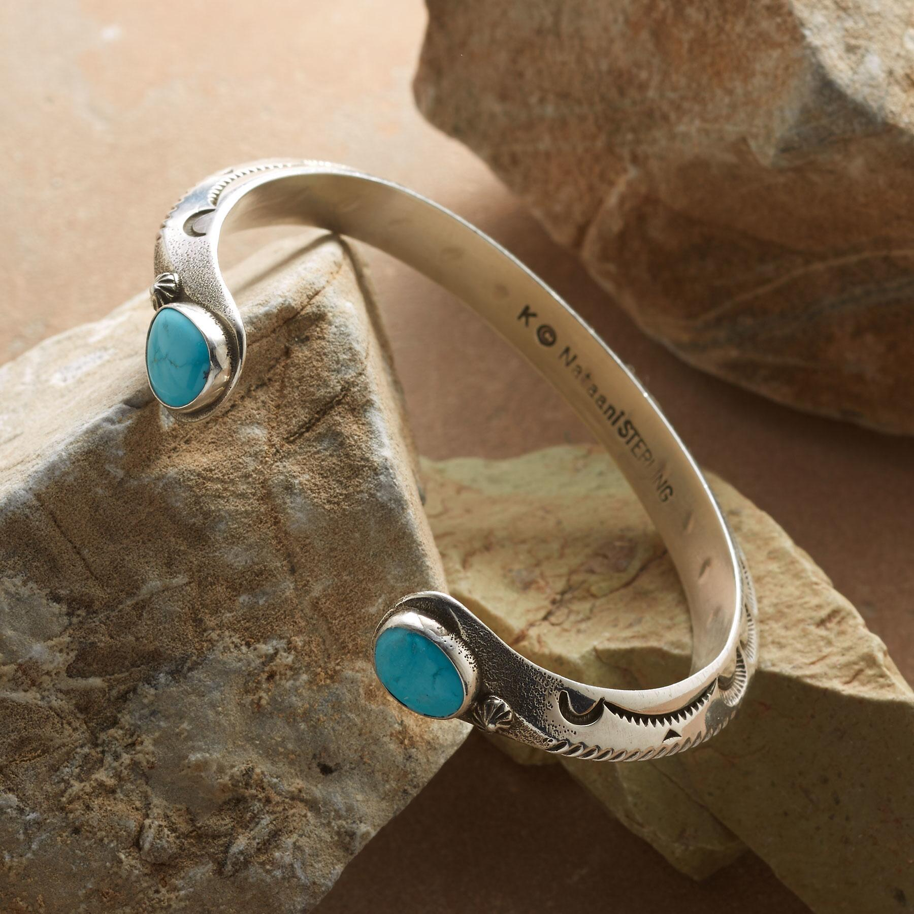 TURQUOISE-TIPPED CUFF: View 2
