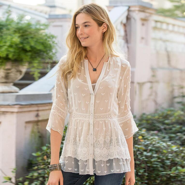MISTY DREAMS SILK TUNIC